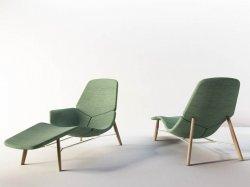 Fabric lounge chair ATOLL by Tacchini Italia Forniture design Patrick Norguet