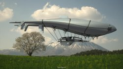 "Timon Sager – The ""Wolke 7"" is a design for a Flying house concept."