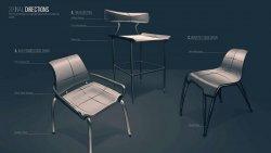 Chloe Georgiades – Strata Chair – sketch