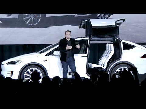 Elon Musk launches Tesla Model X  – YouTube