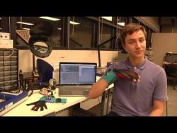 SignAloud: Gloves that Transliterate Sign Language into Text and Speech – YouTube
