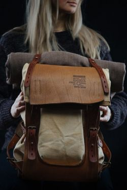 Notless Orequal – Leather and canvas backpack #07