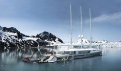 Oliver Stacey Design, BMT Nigel Gee – Norse 80m – sail-assisted exploration yacht