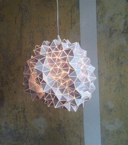 etsy BrittaGould – One of a kind- Geodesic Hanging Light Sculpture