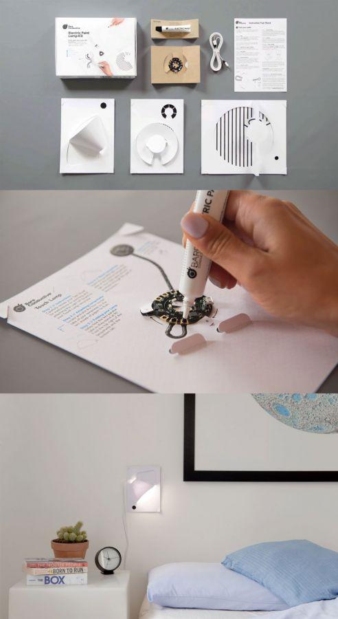 Bare Conductive – Electric Paint Lamp Kit – paint, plug and play! – Kickstarter