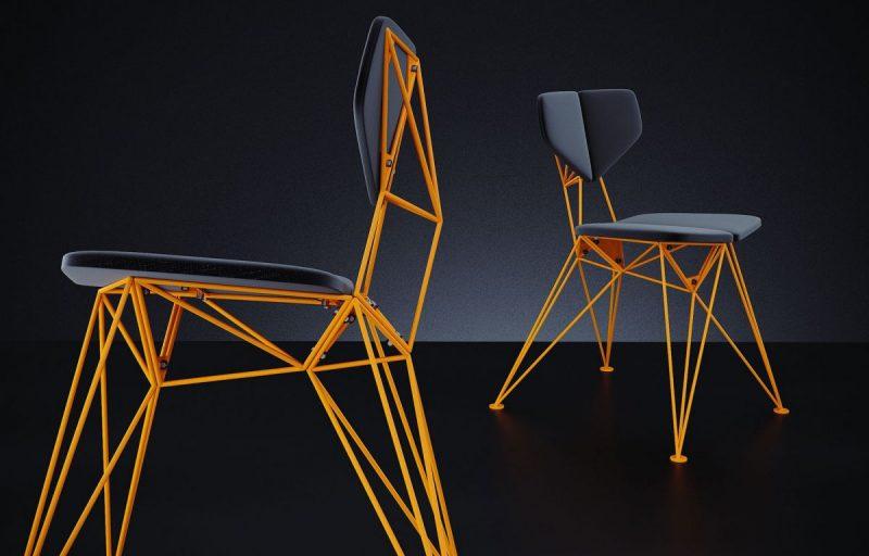 Fyodor Lazariev – Prefabricated metal chair Star