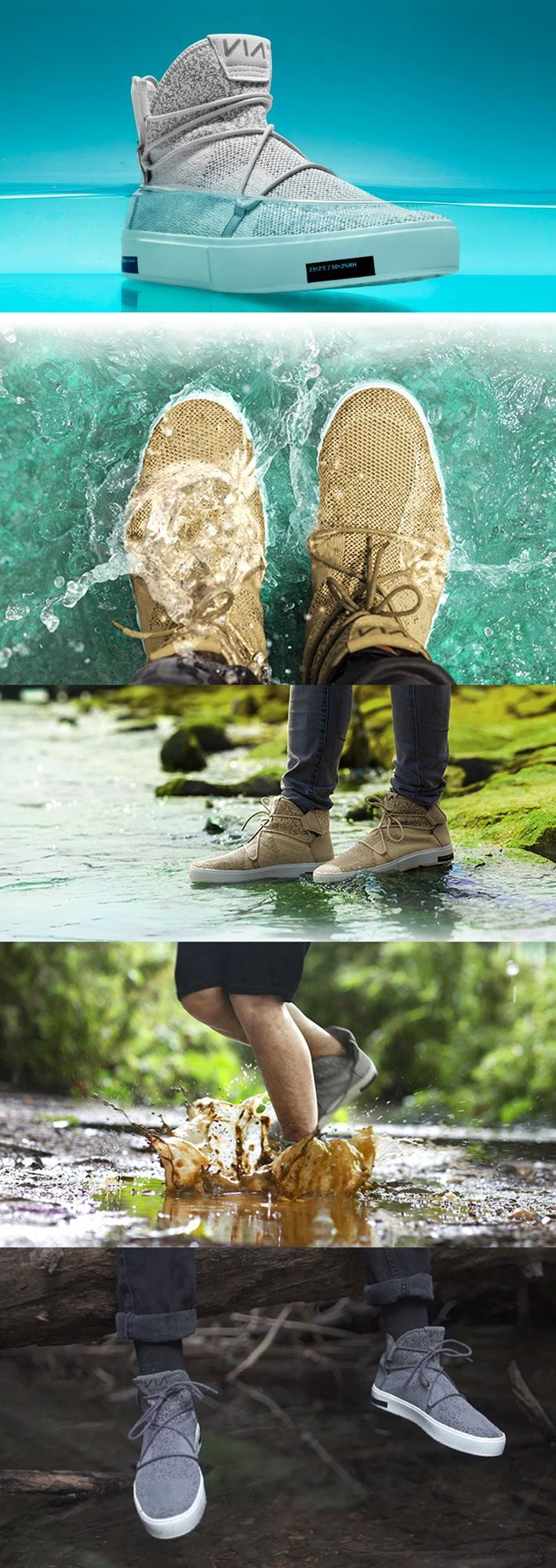 VIA Design Lab The Waterproof Knit Shoes Made from Ocean